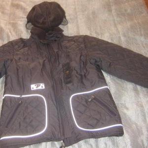 Куртка демисизонная + кепка из одной ткани
