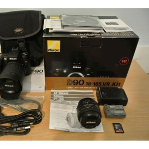 Nikon D90 Digital SLR Camera with Nikon AF-S DX 18-105mm lens $500USD